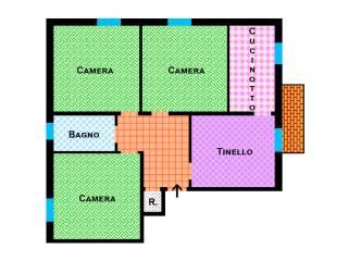 Foto - Appartamento da ristrutturare, secondo piano, Corticella, Bologna