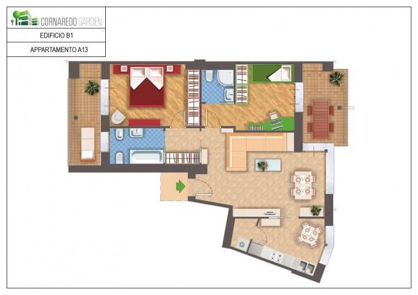 foto Piantina Appartamento in Vendita a Cornaredo