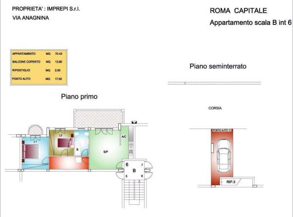 foto  Trilocale via Anagnina 448, Roma