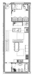 planimetria Loft / Open Space Vendita Milano