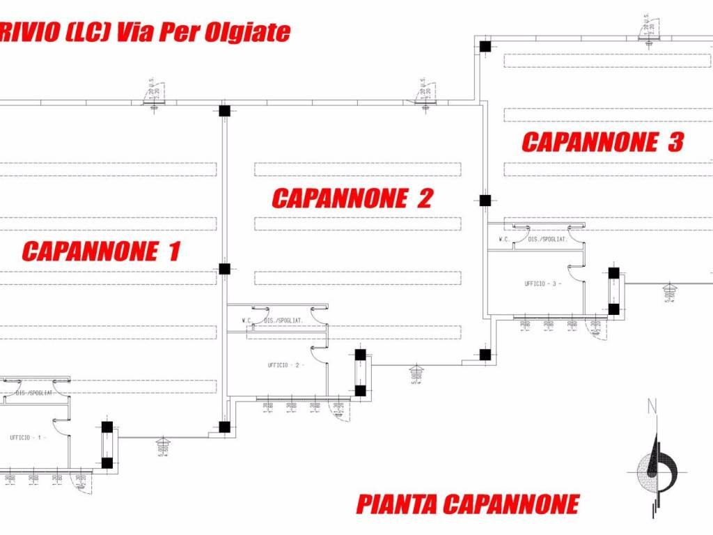 foto Planimetria Capannone in Vendita