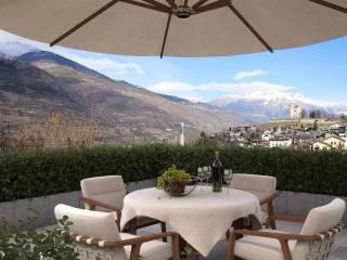 Foto - Villa, nuova, 120 mq, Aymavilles