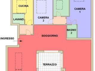 Foto - Trilocale via Fratelli Cervi, Milano Due, Segrate