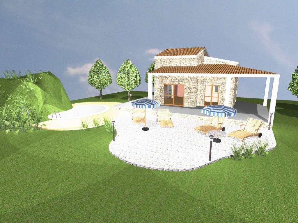 foto PROGETTO RENDERING Villa Contrada Castello di Badia, Castellammare del Golfo