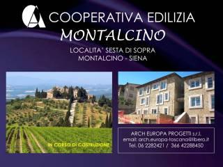 Foto - Trilocale via Borgo di Sopra 6A, Castelnuovo Dell'abate, Montalcino
