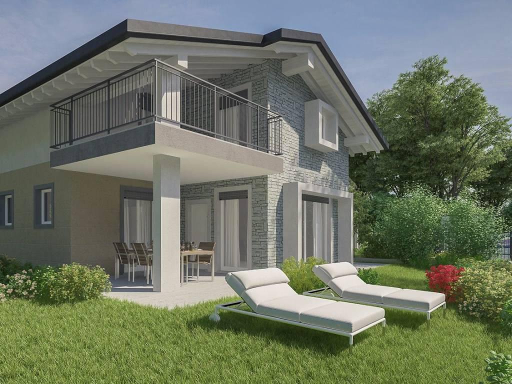 Nuovo Ufficio Samarate : Vendita villa in via monte bianco samarate nuova posto auto