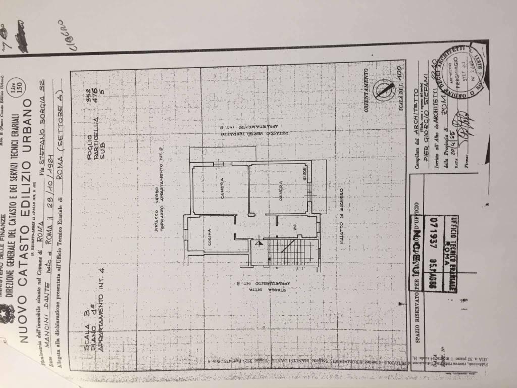 Nuovo Ufficio Catasto Roma : Vendita appartamento in via stefano borgia. roma. balcone rif. 64595228