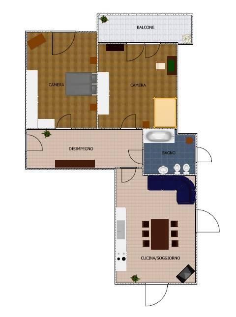 foto Planimetria 3-room flat via Mazzola 6, Piasco