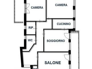 Foto - Quadrilocale buono stato, terzo piano, Barletta