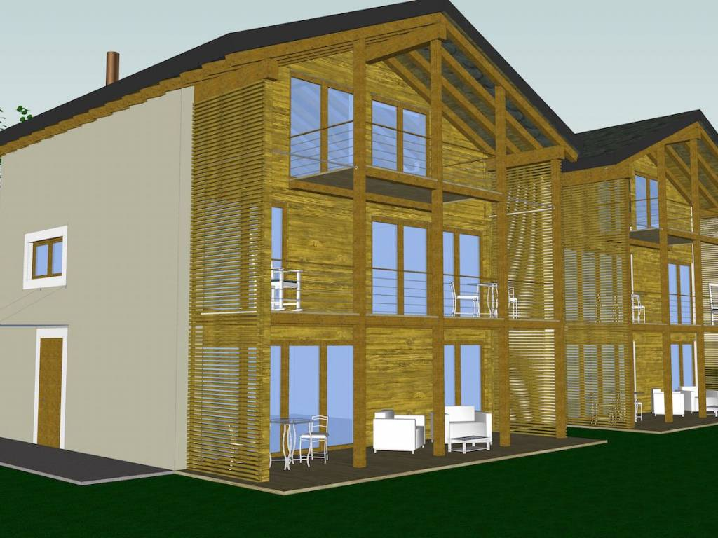 foto prospetto sud-ovest Two-family villa Località Edelboden Inferiore 7, Gressoney-La-Trinitè