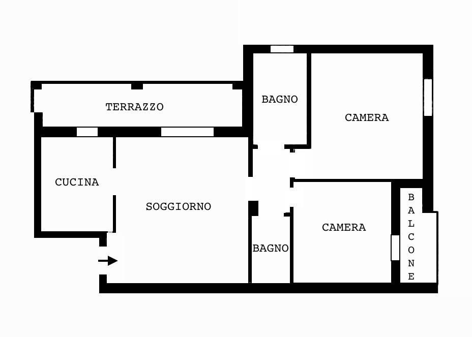 Vendita Appartamento San Giuliano Milanese. Trilocale in via Fornace ...
