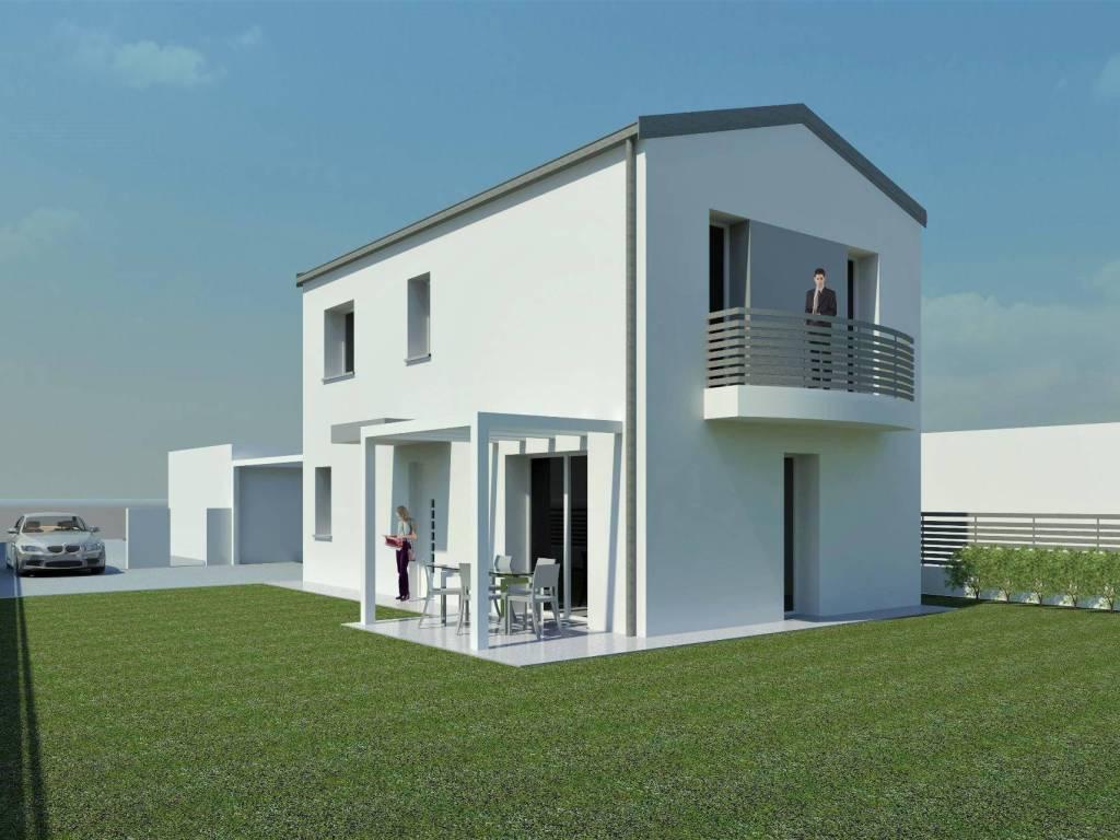 foto vista nord - est Single family villa via Ugo Foscolo, Gazzo