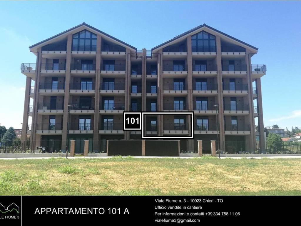 Vendita Appartamento Chieri. Bilocale, Nuovo, primo piano, terrazza ...