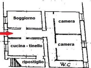 Foto - Quadrilocale da ristrutturare, piano terra, Monticiano