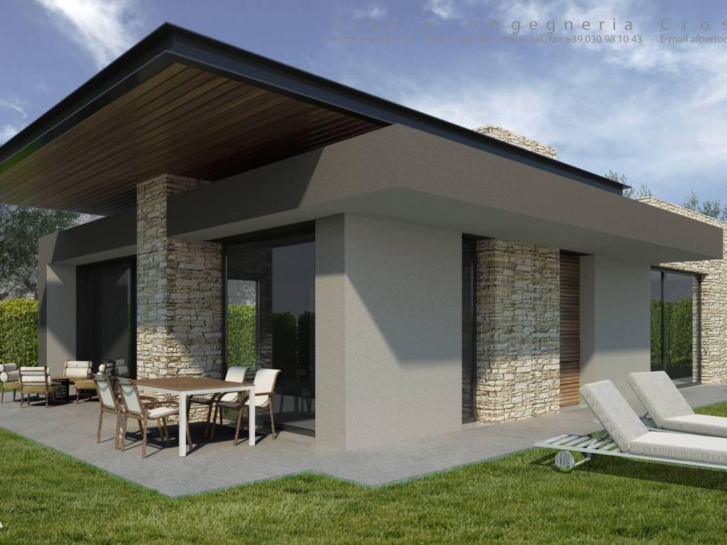 foto villa singola esterno Villa unifamiliare, nuova, 226 mq, Iseo