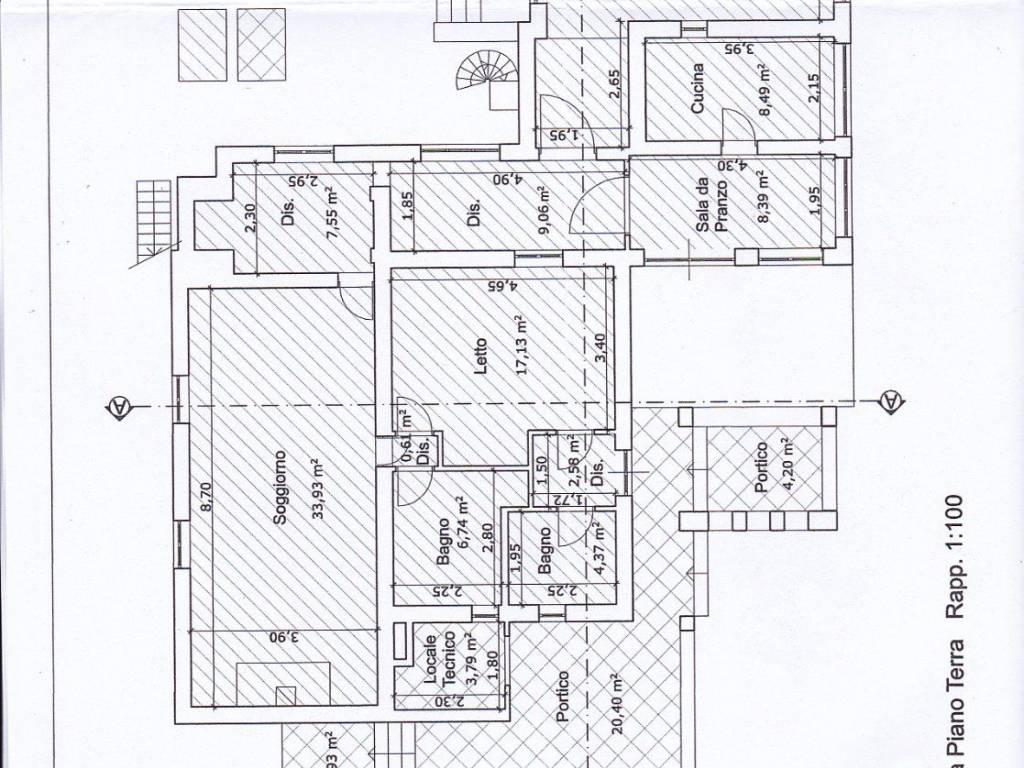 Casa 80 Mq Pianta vendita villa unifamiliare in via dell'acquarella trevignano