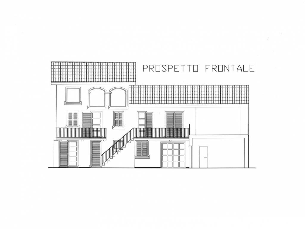 foto prospetto frontale Country house via Angelo Cresta 9, Gassino Torinese