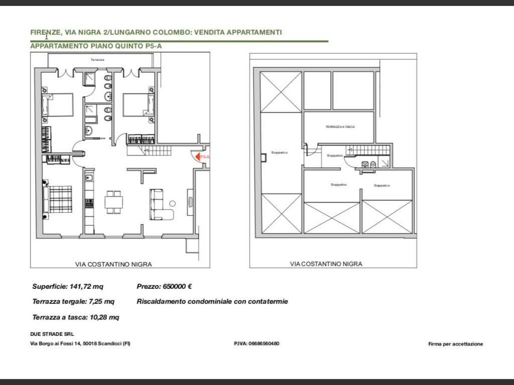 Vendita Appartamento Firenze Nuovo Ultimo Piano Terrazza