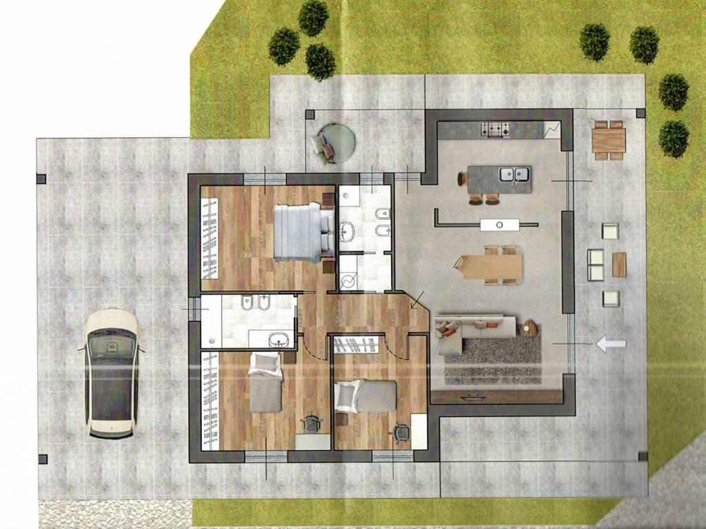 foto  Villa unifamiliare, nuova, 120 mq, Tortona