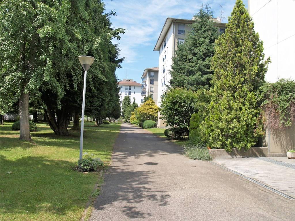 foto Parco condominiale Trilocale via Monfalcone, Vercelli
