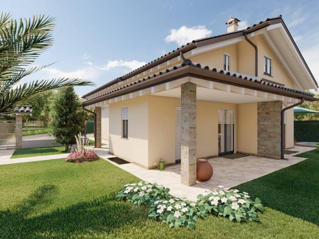 foto  Single family villa, new, 271 sq.m., Dormelletto