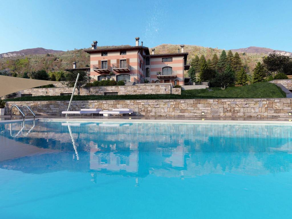 foto Piscina Terraced house 3 rooms, new, Solto Collina