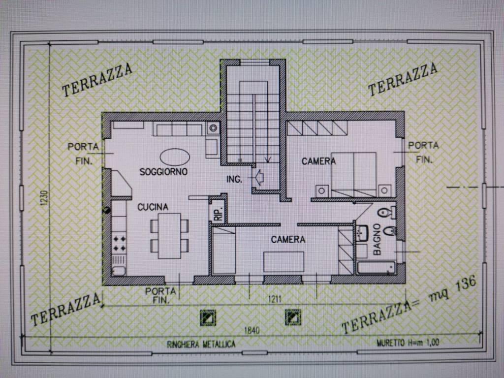 foto plan Attico via Giacomo Matteotti 12, Cadeo