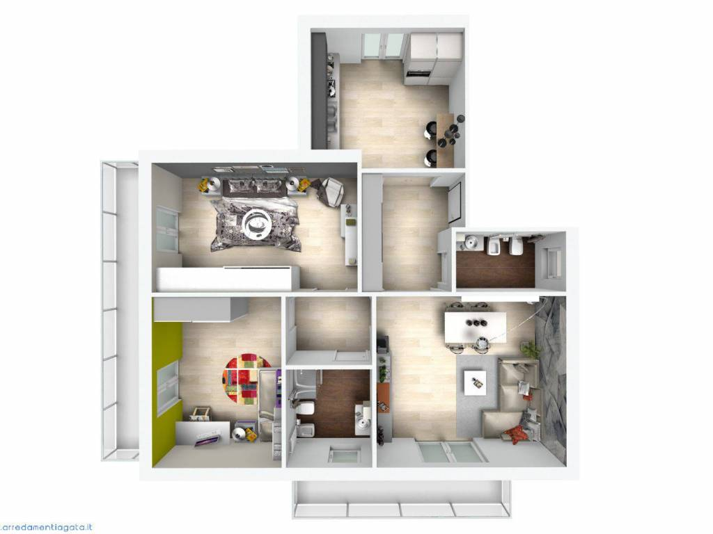 foto render 4-room flat via Blatta, Chivasso