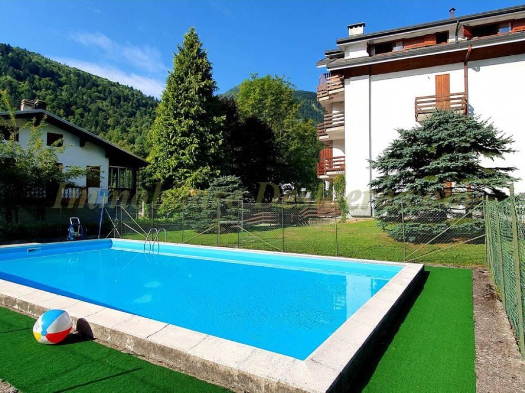 foto vista piscina Trilocale via Seggiovie 20, Scopello