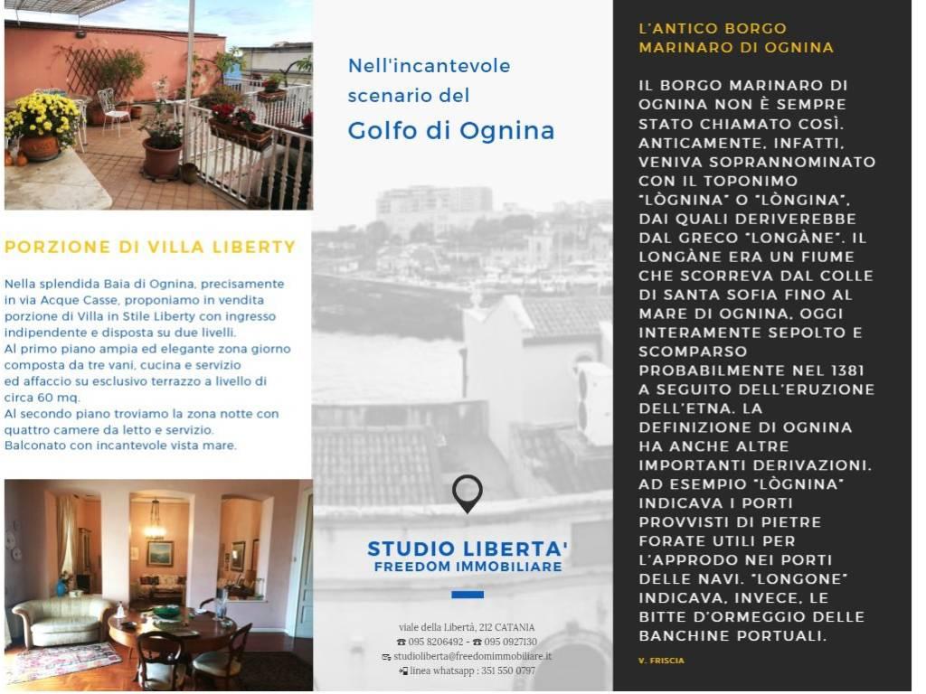 Vendita Appartamento In Villa In Via Acque Casse Catania Da