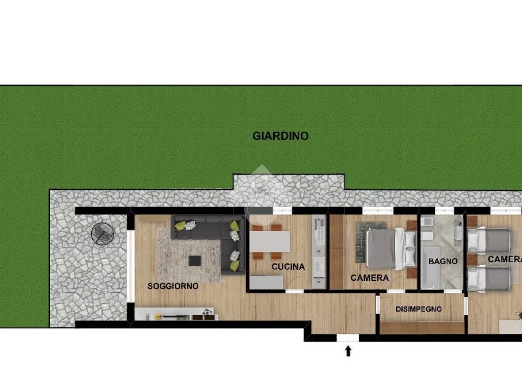 foto 3 LOCALI CON GIARDINO 3-room flat via Giuseppe Garibaldi, Bussero