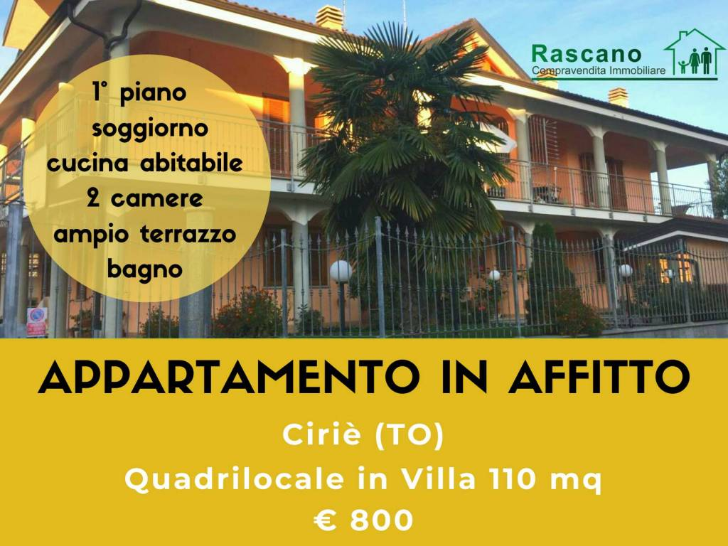 foto copertina Quadrilocale via Fontane, Ciriè