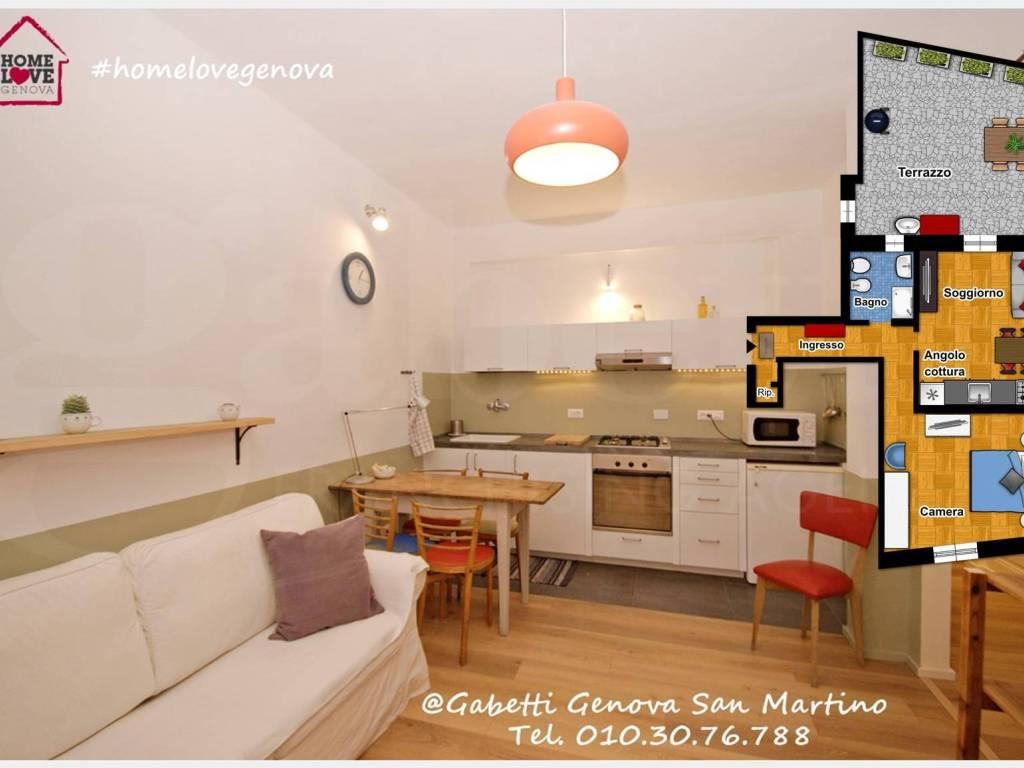 foto soggiorno Apartment via di San Bernardo, Genova
