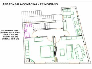 Photo - 2-room flat to be refurbished, first floor, Sala Comacina
