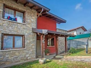 Foto - Villa a schiera via Don Santo Carminati, Azzonica, Sorisole
