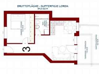 Foto - Zweizimmerwohnung neu, Erdgeschoss, Aldino