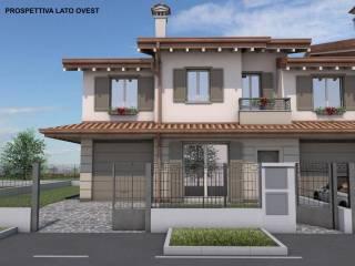 Foto - Villa a schiera 5 locali, nuova, Fornovo San Giovanni
