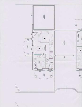 foto Pianta PT villa singola Villa, nuova, 185 mq, Gorla Maggiore