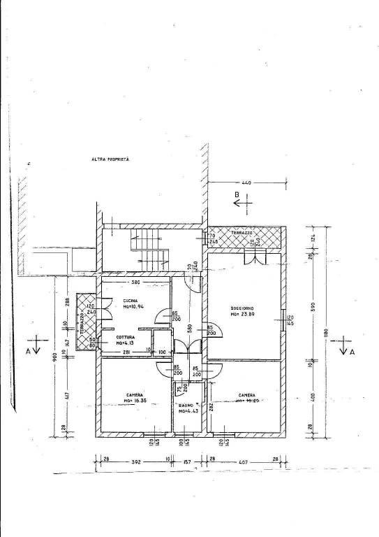 foto planimetria Quadrilocale via Antonio Gramsci 91, Casciana Terme Lari