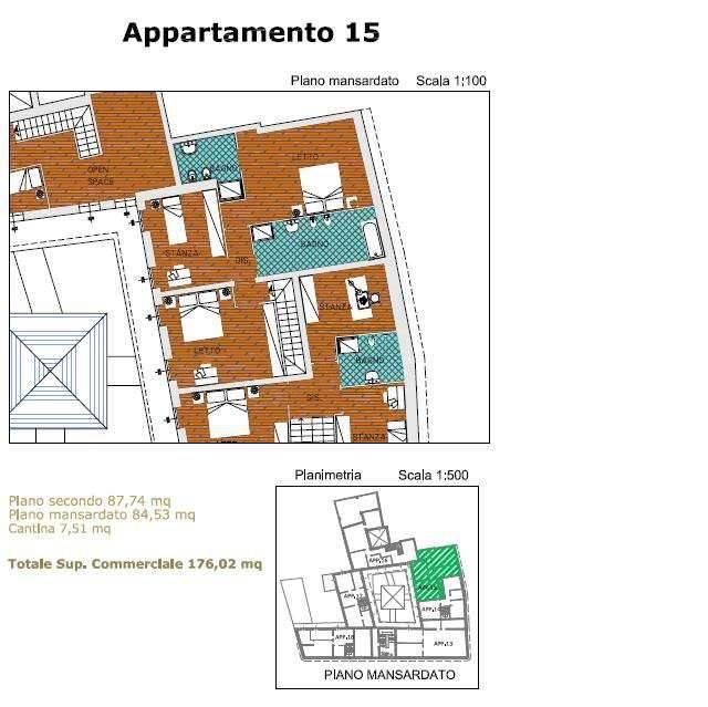 foto pianto P3° Apartment corso Umberto I, San Martino in Rio