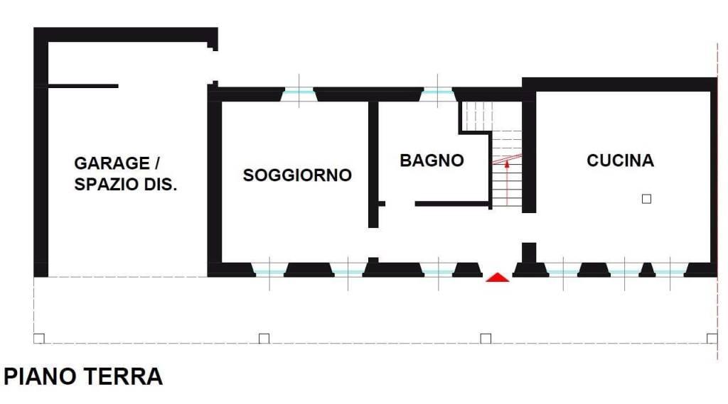 foto Piano terra Villa a schiera, ottimo stato, Borgo Vercelli