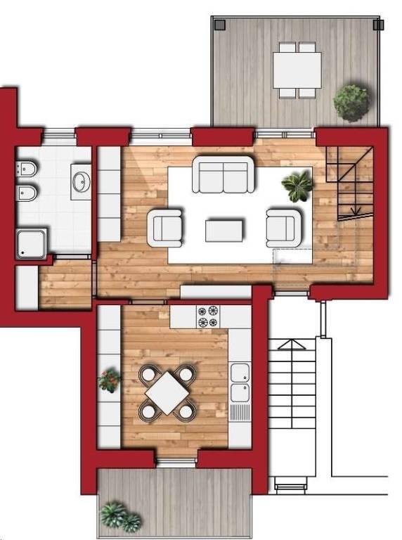foto Piano Primo Appartamento nuovo, ultimo piano, Boves