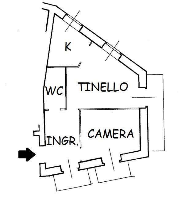 foto  2-room flat via Borghetto 11, Demonte