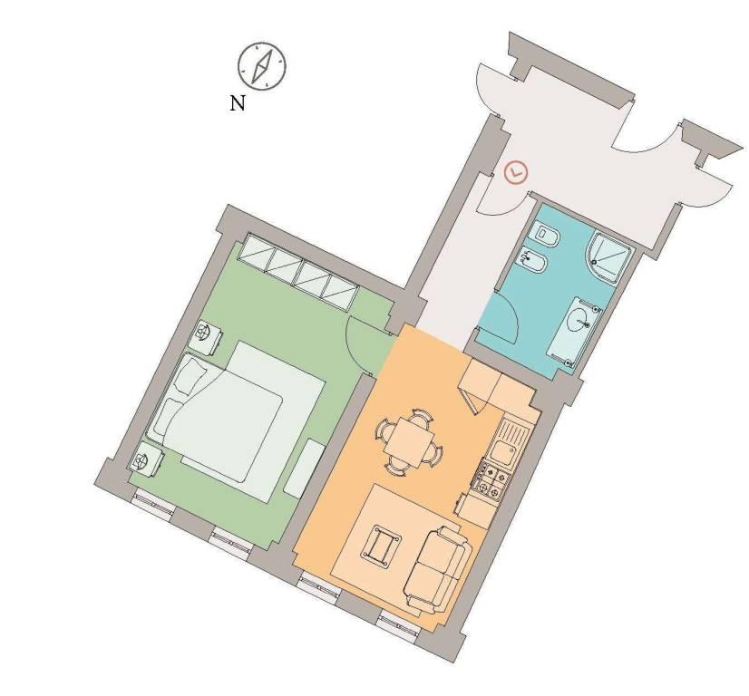 foto appartamento in castello Bilocale via Alcide De Gasperi 23, Palaia