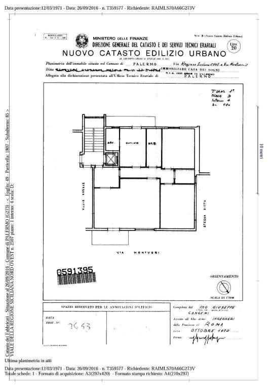 Vendita Appartamento Palermo  Quadrilocale in viale regione