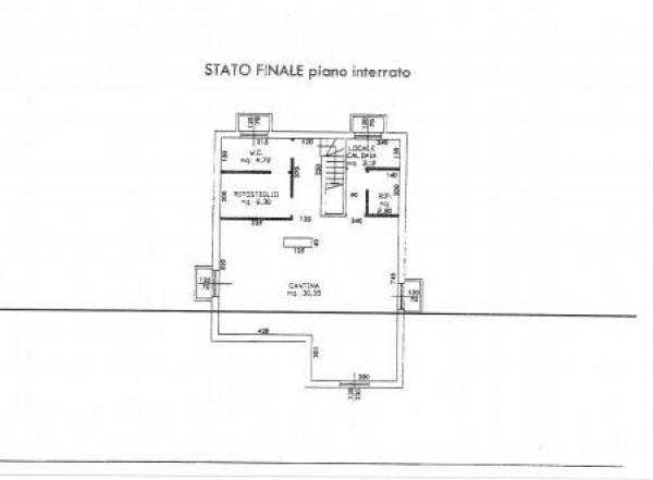 foto Piano interrato Villa bifamiliare via Moncucco, Cadrezzate