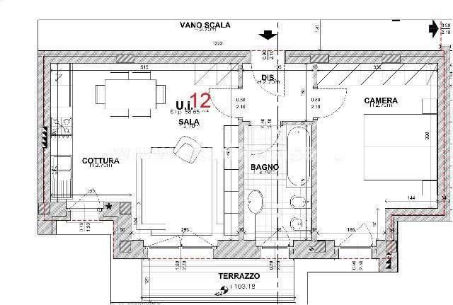 foto Planimetria Bilocale via Lombardia, Mapello