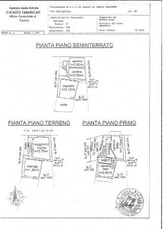 foto Plan1 Single-family townhouse via Castiglione, Candia Canavese