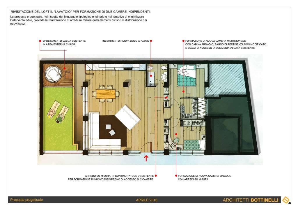 foto planimetria lavatoio Loft / Open Space via masaccio ., Varese