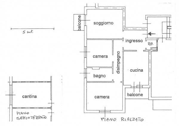 foto  3-room flat good condition, mezzanine, Turbigo